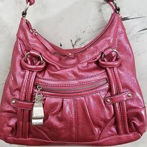 8cde88e4f151 Genna de Rossi Bags - GENNA DE ROSSI Raspberry Pink Satchel Purse Bag